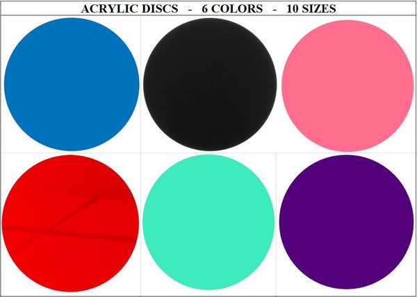 100 Laser Cut Color Acrylic Blank Round Discs with HOLE: Smooth Edge Plexiglass Circles 1/8 inch (3 mm) DIY Crafts Keychains Pendants Jewelry Gift Tags