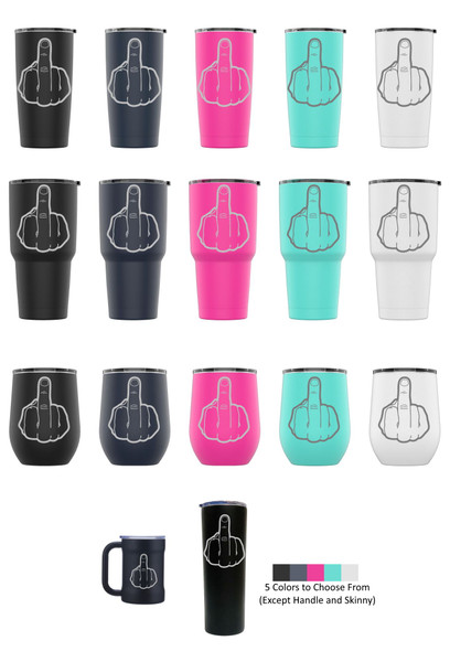 Laser Engraved NUMBER 1 Stainless Steel Powder Coated Tumbler + Splash Proof Lid + 2 Straws*, Triple Wall Vacuum Insulated Mug Coffee Cup Travel