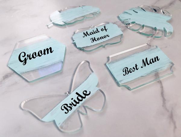 Blank Clear Acrylic DIY TABLE PLACE CARDS (30 Choices)