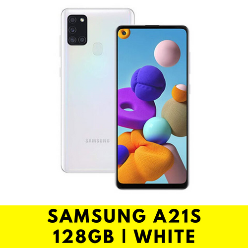 Samsung Galaxy A21s 128GB (White Handset) Bundle Pack