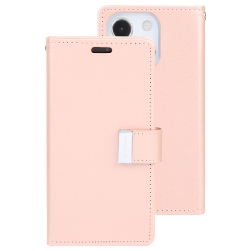 Rich Diary Wallet Case for iPhone 13 Mini (Rose Gold)