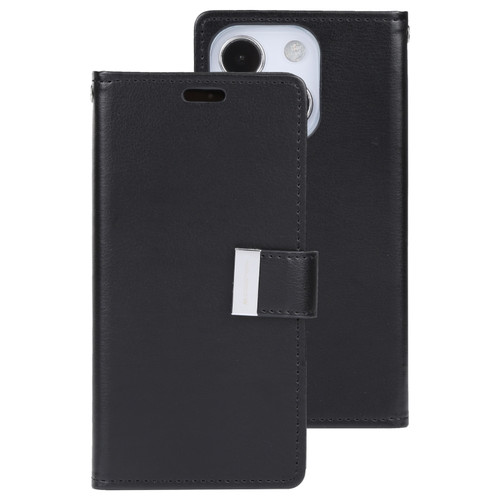 Rich Diary Wallet Case for iPhone 13 Mini (Black)