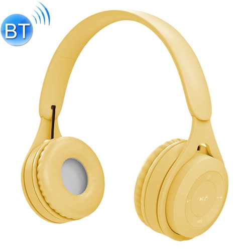 Yellow Bluetooth/AUX Headset