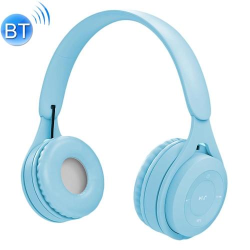 Blue Bluetooth/AUX Headset