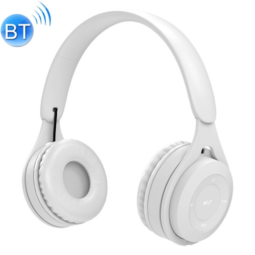 White Bluetooth/AUX Headset