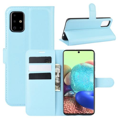 Samsung Galaxy A71 Light Blue Wallet Case