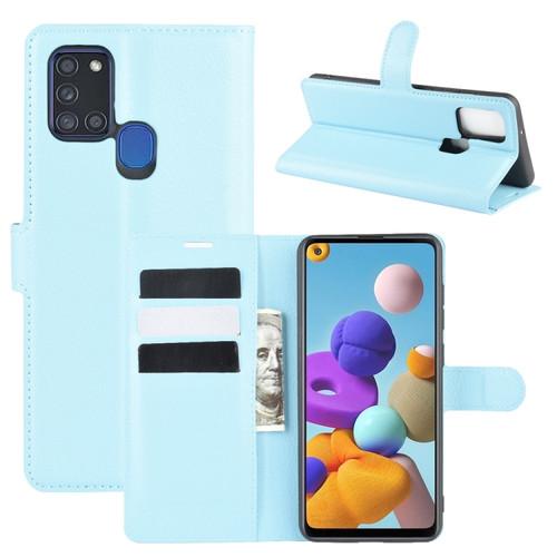 Samsung Galaxy A21s Light Blue Wallet Case