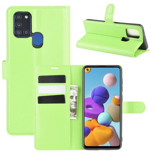 Samsung Galaxy A21s Green Wallet Case