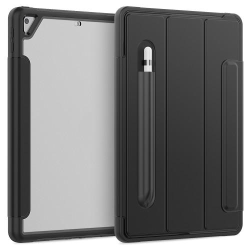 """iPad 7th Gen (10.2"""") Heavy Duty Case (Clear & Black)"""