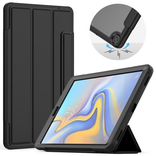 """Samsung Tab A 10.1"""" T510 Heavy Duty Case (Clear & Black)"""