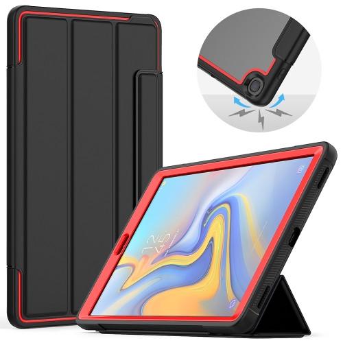 """Samsung Tab A 10.1"""" T510 Heavy Duty Case (Red & Black)"""