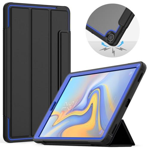 """Samsung Tab A 10.1"""" T510 Heavy Duty Case (Blue & Black)"""