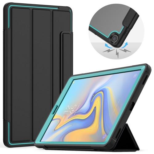 """Samsung Tab A 10.1"""" T510 Heavy Duty Case (Cyan & Black)"""