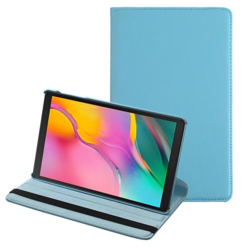 """Samsung Tab A 10.1"""" T510 360 Folio Case (Light Blue)"""