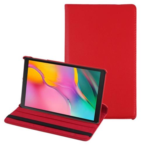 """Samsung Tab A 10.1"""" T510 360 Folio Case (Red)"""