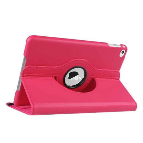 iPad Mini 4 5 360 Folio Case (Dark Pink)