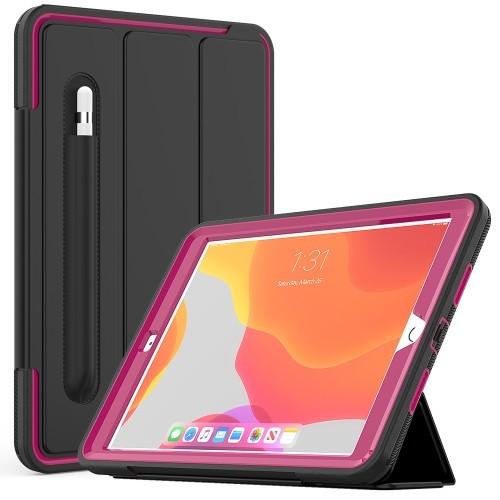 "iPad 7th Gen (10.2"") Heavy Duty Case (Dark Pink)"