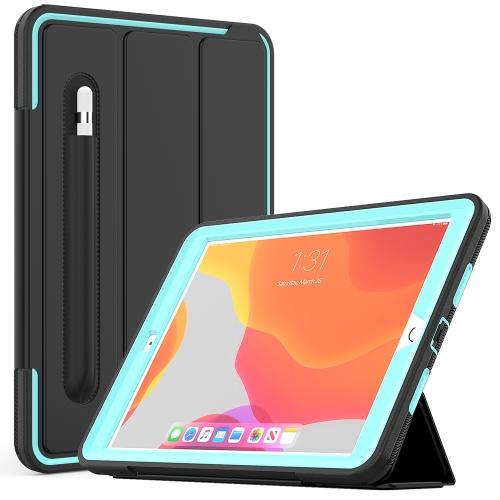 """iPad 7th Gen (10.2"""") Heavy Duty Case (Cyan)"""