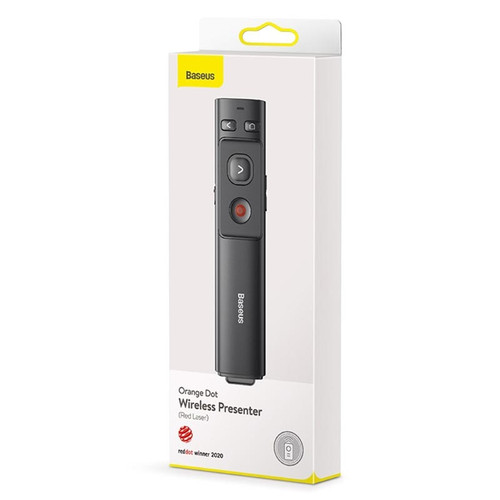 Baseus Orange Dot Wireless Presenter (Red Laser)