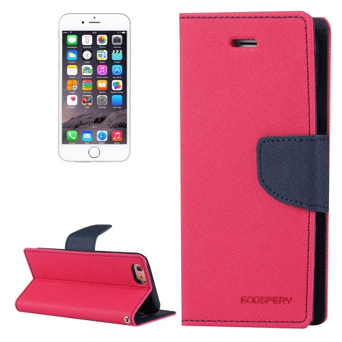 Fancy Diary Wallet Case for iPhone 6 / 6s (Magenta & Navy)