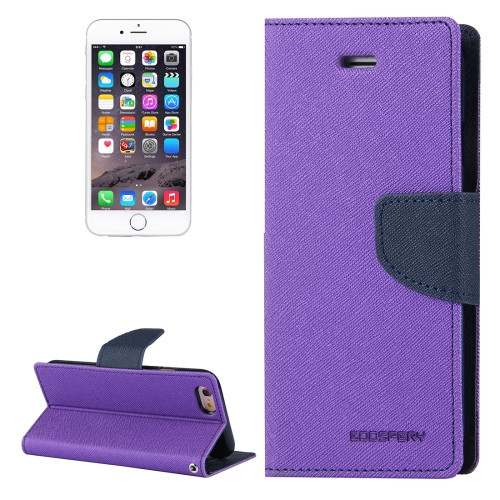 Fancy Diary Wallet Case for iPhone 6 / 6s (Purple & Navy)