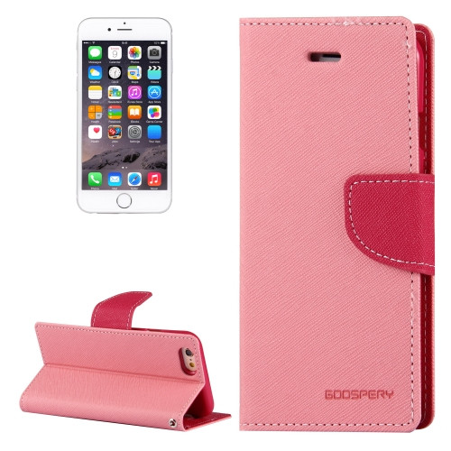 Fancy Diary Wallet Case for iPhone 6 Plus / 6s Plus (Pink)