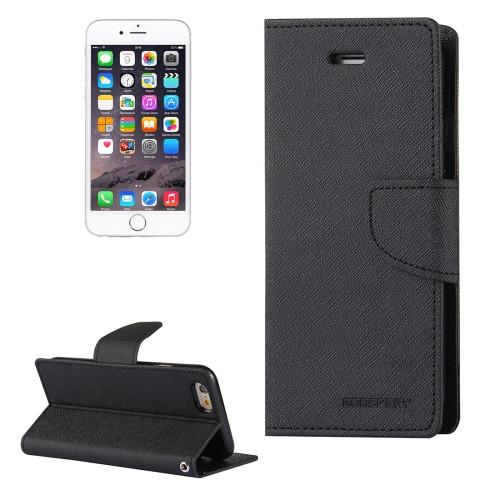 Fancy Diary Wallet Case for iPhone 6 Plus / 6s Plus (Black)