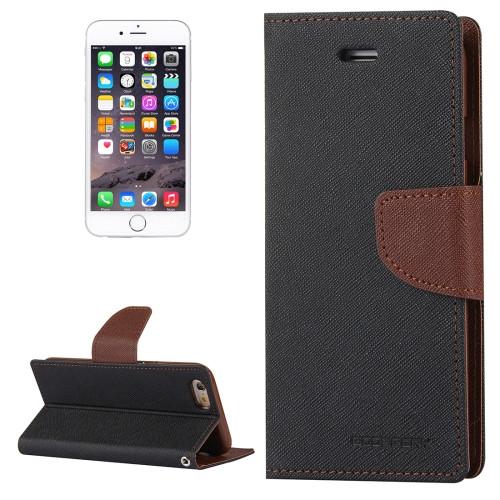 Fancy Diary Wallet Case for iPhone 6 Plus / 6s Plus (Black / Brown)