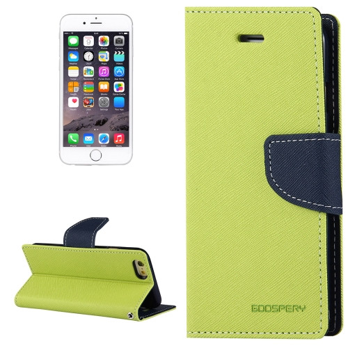 Fancy Diary Wallet Case for iPhone 6 Plus / 6s Plus (Lime / Navy)