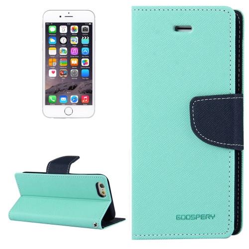 Fancy Diary Wallet Case for iPhone 6 Plus / 6s Plus (Mint / Navy)