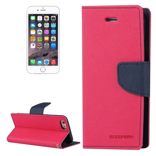 Fancy Diary Wallet Case for iPhone 7 / 8 / SE 2020 (Pink / Navy)