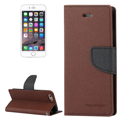 Fancy Diary Wallet Case for iPhone 7 / 8 / SE 2020 (Brown / Black)
