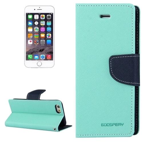Fancy Diary Wallet Case for iPhone 7 Plus / 8 Plus (Mint / Navy)