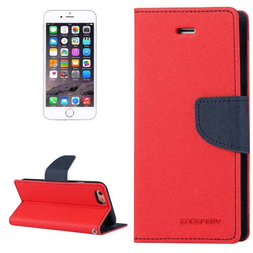Fancy Diary Wallet Case for iPhone 7 Plus / 8 Plus (Red / Navy)