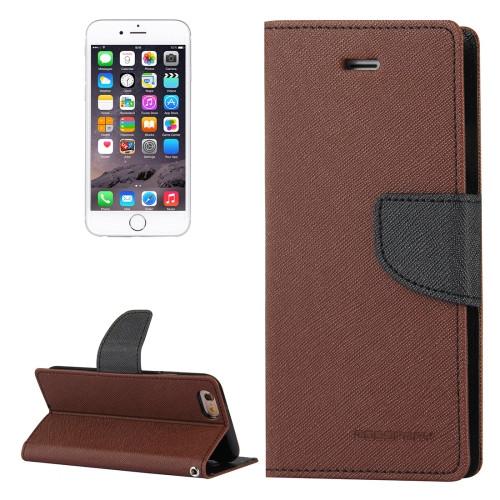 Fancy Diary Wallet Case for iPhone 7 Plus / 8 Plus (Brown / Black)