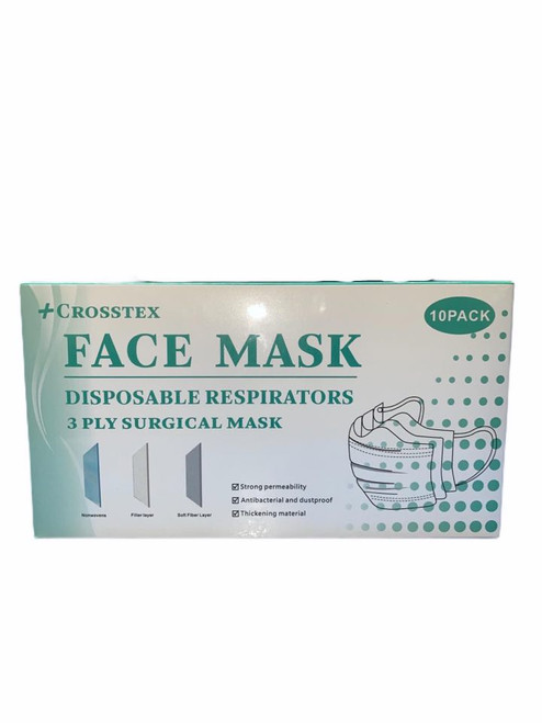 10pc 3ply Disposable Face Mask