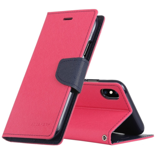 Fancy Diary Wallet Case for iPhone XS Max (Magenta & Navy)
