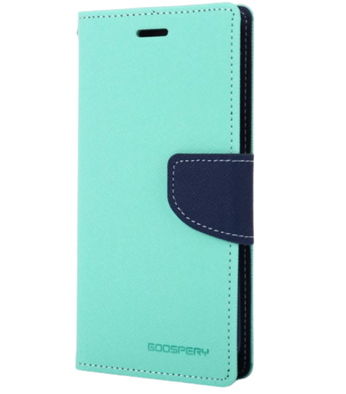 Fancy Diary Wallet Case for iPhone XS Max (Mint & Navy)