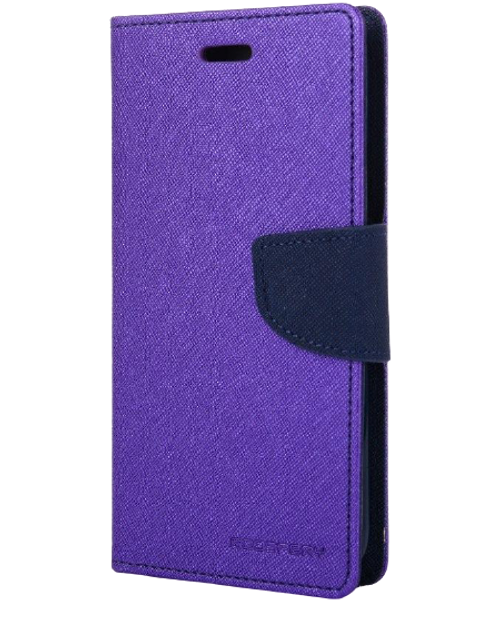 Fancy Diary Wallet Case for iPhone XS Max (Purple & Navy)