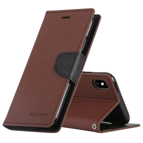Fancy Diary Wallet Case for iPhone XR (Brown & Black)