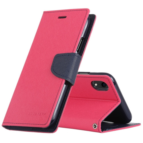 Fancy Diary Wallet Case for iPhone XR (Pink & Navy)
