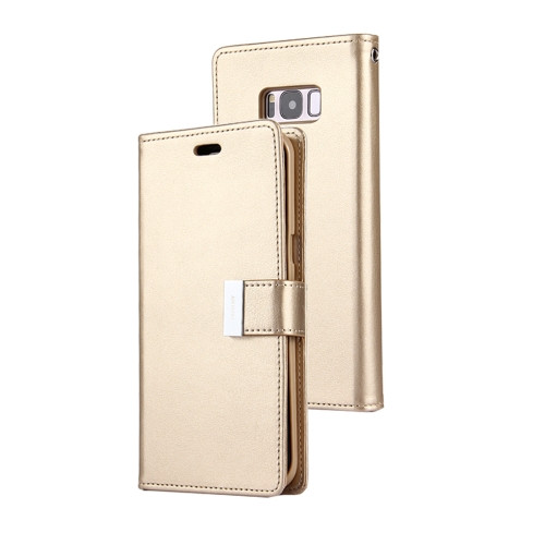 Rich Diary Wallet Case for Samsung Galaxy S8 (Gold)
