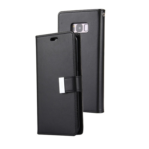 Rich Diary Wallet Case for Samsung Galaxy S8 (Black)
