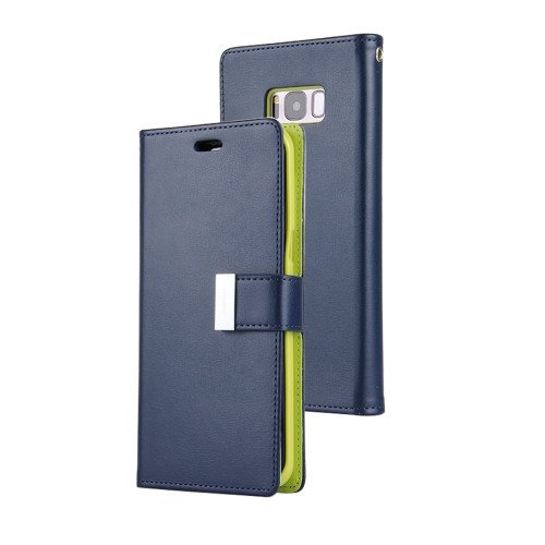 Rich Diary Wallet Case for Samsung Galaxy S8 (Navy & Green)