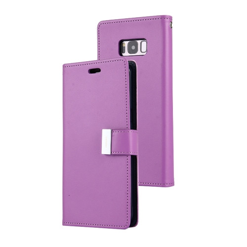 Rich Diary Wallet Case for Samsung Galaxy S8 (Purple & Navy)