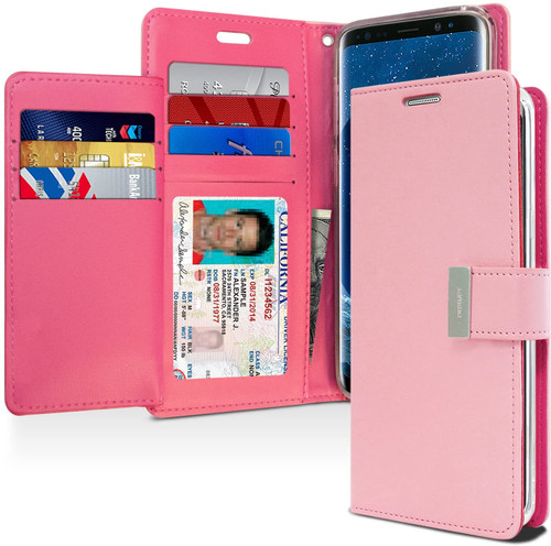 Rich Diary Wallet Case for Samsung Galaxy S9 Plus (Pink)