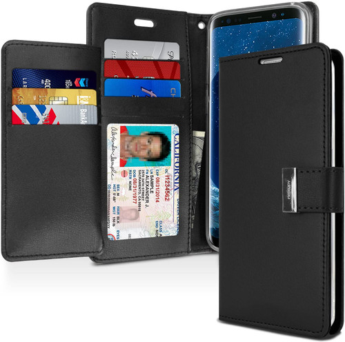 Rich Diary Wallet Case for Samsung Galaxy S9 Plus (Black)