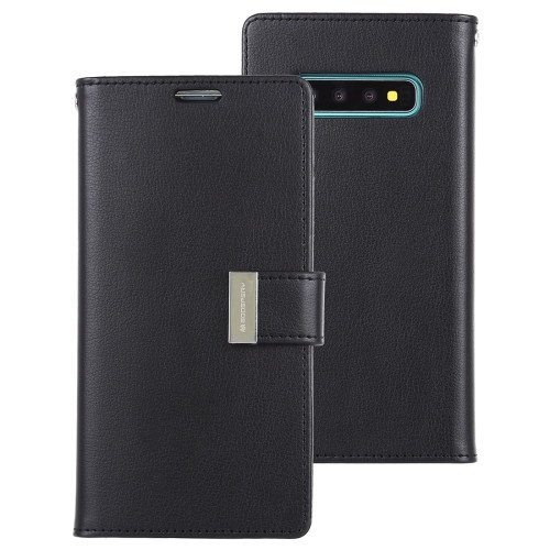 Rich Diary Wallet Case for Samsung Galaxy S10 (Black)
