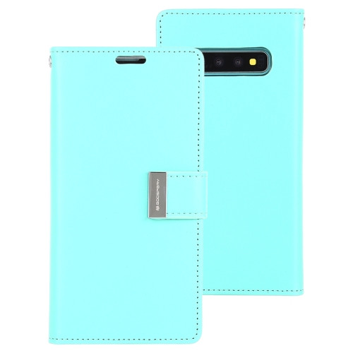 Rich Diary Wallet Case for Samsung Galaxy S10 (Mint & Navy)