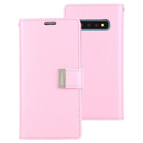 Rich Diary Wallet Case for Samsung Galaxy S10 (Pink)
